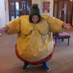 Ian in sumo suit